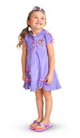 New Children Toddler Kids Girls Baby Cartoon Princess Hooded Fancy Dress Sleeve Purple Dress Costume Outfits LT-300