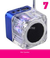 TT-029 Digital Micro SD/TF Music MP3/4 Player USB Dis FM Radio Mini Speaker Blue