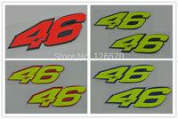 Freeshipping 2 x New Racing Moto GP Rossi 46 helmet bumper Reflective Sticker decals (Pair)