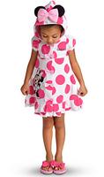 Hot Kids Girls Baby Princess Fancy Toddler Dress Sleeve Children Pink Dress Cartoon Costume Hooded Outfits LT-300