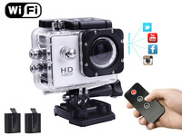 Action Cam T10 camera WIFI IR control by Phone tablet PC 1080P Full HD 60m waterproof VS Gopro Hero3 Black Edition