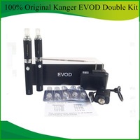100% Original Kanger Evod Double Kit Colorful E Cigarettes With Evod Atomizer and 650mah Evod Battery Gift Box