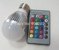 3w led rgb bulb e27 with romote controller