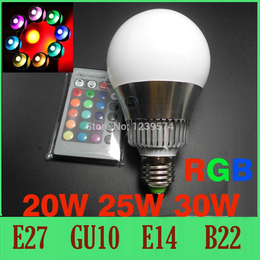 Led 20w Bulb 20w 30w Rgb Led Bulb 16