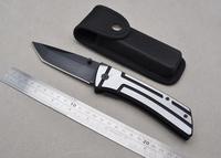 New Big Folding Knife 440C Blade Aviation Aluminum Handle Outdoor Hunting Knife Gift Knife
