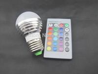 24keys remote control led light bulb rgb 3watts