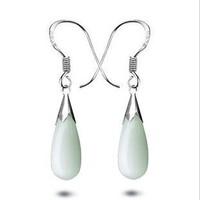 925 sterling silver opal earrings high fashion hot-selling female pop droplets earrings jewelry free shipping