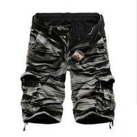 Hot sale 2014 shorts men camouflage military style summer sport cotton loose mens shorts casual clothing beach short pants D331