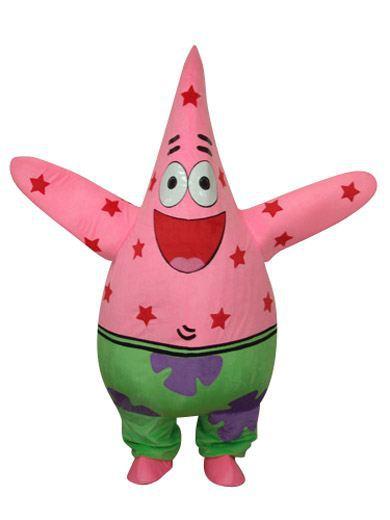 OISK Patrick Starfish Mascot Head Costume Halloween Christmas Birthday Props Costumes Outfit(China (Mainland))