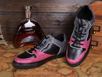 New Arrival!2014 Design Low top lace up leather sneakers Men causal shoes west Trainer hot selling