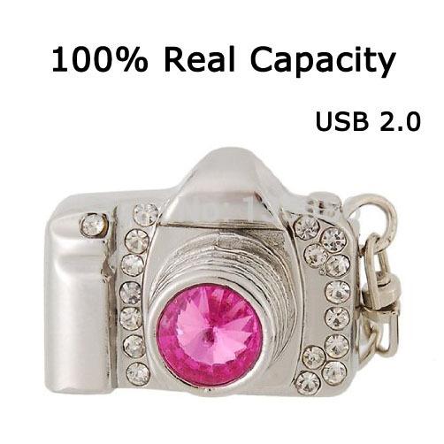 NEW Hot Selling Real capacity Camera Cool Metal style 2GB 4GB 8GB 16GB 32GB 64GB Pen drive Good quality USB flash drive U Disk(China (Mainland))