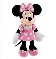 Free Shipping New 2014 Original Minnie Mouse Kids Plush Toys Girls Kawaii Stuffed Dolls For Children Christmas Gifts 45CM-Pink