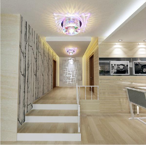 5W crystal modern bedroom luxury lighting ceiling lights living room crystal led lamp 220v 230v 240V abajur lights(China (Mainland))