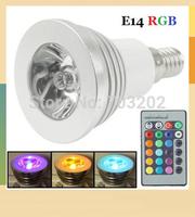 3W e14 RGB spotlight for decoration light