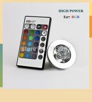 e27 3W RGB Spotlight LED with Remote Controller