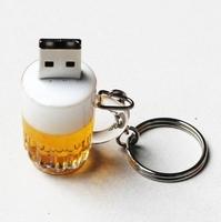 AU56 Bottle /Can  Beer mug external storage 1GB 4GB 8GB 16GB 32GB 2.0 USB disk flash card memory pendrives disk Key Chain