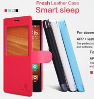 Nillkin Brand Fresh Series Ultra-Thin PU Leather Stand Case For XIAOMI Hongmi Red Rice Note / Redmi Note, with retail box