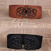 Cummerbund female elastic belt carved cummerbund all-match fashion decoration belt vintage rose cummerbund