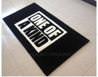 60x90cm CF05 New Fashion Designer Black White Letter Unique Handmade Bedroom Carpet Doorway mat Floor Area Rug Thick Quality