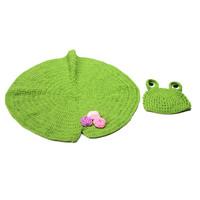 AliExpress selling frog lotus leaf shape modeling child handmade hat children cap