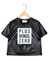 Basic letter loose top o-neck print women's HARAJUKU PU female short-sleeve t-shirt 3061c