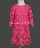 New Kids Dress vestidos de menina Cati**mini Girls Dress Hook flower dress 3-12ages Kids meninas vestir