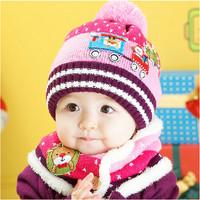 2013 winter new car Christmas baby hat and velvet jacket Children Children's Winter Hats