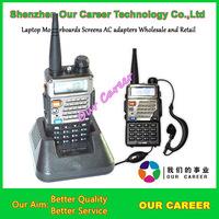 Top quality Dual Band Two-Way Radio UV-5RE 5W 128CH UHF + VHF FM VOX Dual Display UV5RE Free Shipping