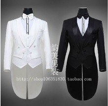 Free shipping New 2014 Men s Brand Men s Black Tuxedo Dress Costumes Chorus Singer Clothing