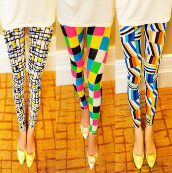 Ladies Geometric Print Брюки & Capris Женщины Модный Summer Stretch Leggings