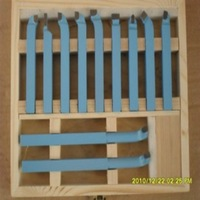 Free shipping by DHL 10*10mm 11pieces Precision hard alloy Turning Tool, lathe tool Kits cutter, cutting tools with wooden case