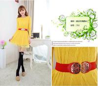Women's petals all-match one-piece dress elastic waist belt women's one-piece dress elegant and accessories cummerbund
