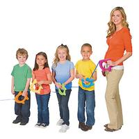 Children string rope stuffed fish nursery school supplies