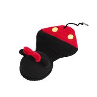 One hundred days full moon handmade baby baby knitting wool hat women Mickey Siamese