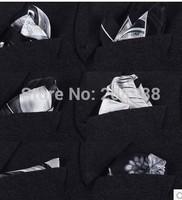 Hot Sale! Fashion Paisley Silk Pocket Squares Handkerchief Chest Towel Christmas Gift  Free Shipping 10pc.#1681