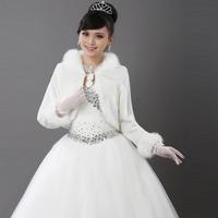 The bride wedding wrap autumn and winter cape thermal winter bride fur shawl fur shawl mpj048