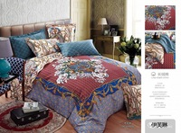 High quality jacquard luxury long stapled cotton Bedding Set: duvet cover, bed sheet and pillowcase.