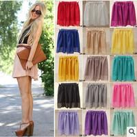 sheer skirts 2014 New jupe Summer saia Fashion Women skater skirt Quality Midi Skirts Female saias femininas faldas vestidos