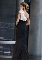 New Fashion Black Sweetheart A-Line Long Chiffon Evening Dress Elegant Beautiful One Shoulder Pleat Party Prom Dress cc031