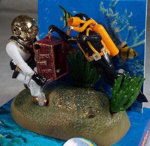 Diving tank promotion online shopping for promotional for Aquarium scuba diver decoration