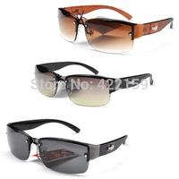 2014 fashion rimless sunglasses men anti-uv 400 sun-glasses driver cool eyewear accessories logo sun glasses retail/wholesale