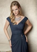 New Fashion Sweetheart A-Line Long Chiffon Evening Dress Fashion Beautiful Cap Sleeve Pleat Party Prom Dress cc031