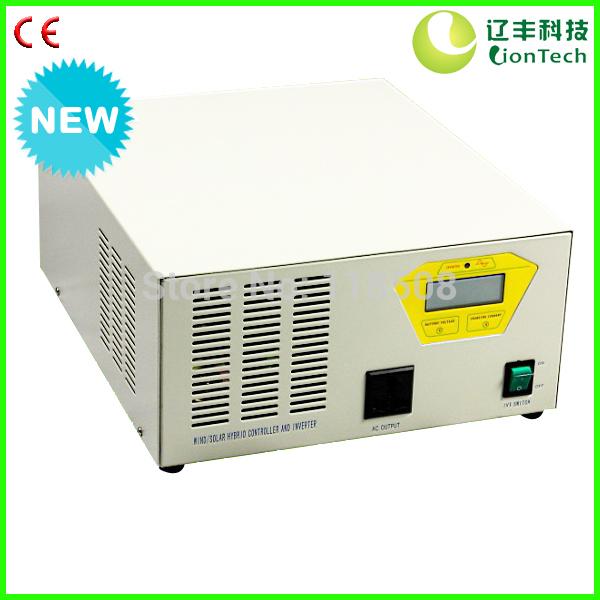 1kW 1000W 1000 Watt 24V/48V Integrated Controller and Inverter Device (Wind 1000w & Solar 300w + 600VA Inverter+LCD Display)(China (Mainland))