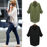 New 2014 Fashion Women spring Blouse Chiffon Top Office OL Workwear Shirts Plus Size blusas femininas