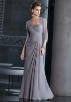 New Sweetheart Beaded A-Line Long Chiffon Evening Dress Fashion Floor-Length One Shoulder  Party Prom Dress bg510