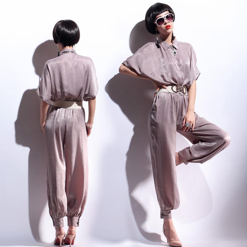 2014 Fashion loose plus size harem pants jumpsuit bloomers trousers female jumpsuit(China (Mainland))