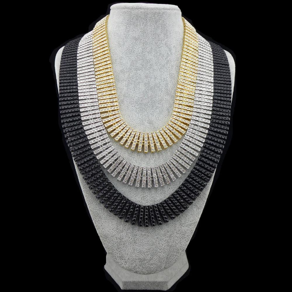Diamond-Ice-Out-SILVER-Chain-HipHop-Men-s-14K-Gold-CZ-Necklace-32 jpgBlack Diamond Necklace For Men
