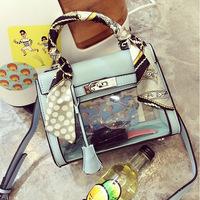 Fashion Vintage 2014 Transparent Platinum Portable  Platinum Messenger Fashion Women's Handbag