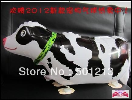 Free Shipping Cow pet balloon Walking animal walking pet balloons toy gift(China (Mainland))