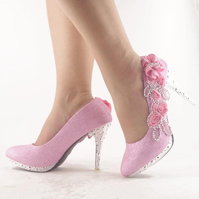 Pink Bling Wedding Shoes Sa201 Pink Wedding Shoes